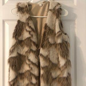 Faux Fur vest! Never worn
